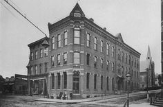 A historical photo of the Arsenal Bank in Lawrenceville. The bank weathered the economic depressions of the 1870s and 1890s and the Great Depression, while providing a safe place for neighborhood residents to keep accounts. The Arsenal Bank ceased business in 1943, when it was bought by the People's-Pittsburgh Trust Company, predecessor of PNC Bank and one of the first Pittsburgh banks to establish branches in city and suburban neighborhoods.