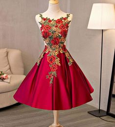 Cute A line lace short prom dress, homecoming dress,party dresses · HotProm · Online Store Powered by Storenvy Dama Dresses, Quinceanera Dresses, Sexy Dresses, Vintage Dresses, Beautiful Dresses, Fashion Dresses, Prom Dresses, Long Dresses, Pretty Dresses