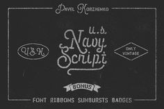 U.S.Navy Script • Freebies • by Pavel Korzhenko on Creative Market