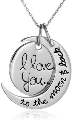 2 I Love You To The Moon And Back Pendants Charms Antiqued Silver Quote Charms Fashion Jewelry