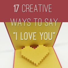 "Need I say more? Even if the message isn't ""I love you"", these #creative #DIY gestures speak for themselves. via @BuzzFeed"