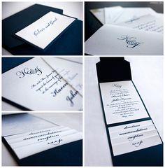 simple yet elegant wedding invitation