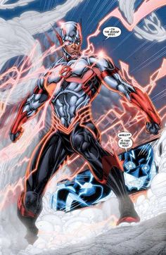 Wally West in the New 52. Yes, he is African American.