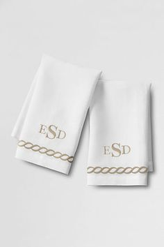 Embroidered Guest Towels (Set of 2) from Lands' End