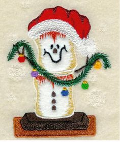 Threadsketches' set Camp Christmas- Christmas machine embroidery design, Christmas s'more