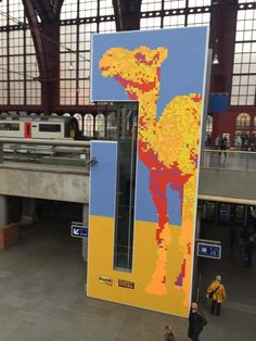 Even Post-it notes getting into 8-bit art. Post-it endless runner camel game next? @postitproducts
