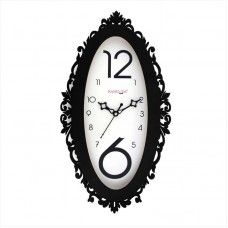 antique round wall clock has an excellent natural wooden frame round the round dial the frame of the decorative wall clock looks fascinating