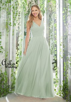 Morilee Bridesmaids 21621 Figure Flattering Chiffon Bridesmaid Dress Featuring an Assymetrcially Draped, V-Neck Bodice and Flowy, A-Line Skirt. View Chiffon Swatch C Mori Lee Bridesmaid Dresses, Designer Bridesmaid Dresses, Lace Bridesmaid Dresses, Wedding Dresses, Formal Dresses, Mauve, Staubige Rose, Chiffon Gown, Chiffon Fabric