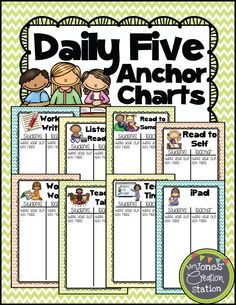 Looking for a Daily 5 Printable I Charts. We have Daily 5 Printable I Charts and the other about Printable Chart it free. Daily 5 Stations, Reading Stations, Literacy Stations, Literacy Centers, Reading Centers, Literacy Cafe, Reading Groups, Daily 5 Reading, 3rd Grade Reading