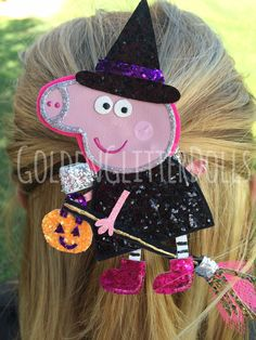 Peppa Pig inspired Halloween Witch Glitter by GoldenGlitterDolls