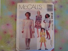 Sleeveless Dress and Cropped Jacket/Mccalls 9144 Girls Size 7,8,10/  Lined Jacket, Princess Seamed Dress, Special Occasion, Uncut by RedWickerBasket on Etsy