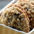 Chewy Chocolate Chip Oatmeal Cookies. Makes 42 cookies. 152 calories, 9g fat per cookie.