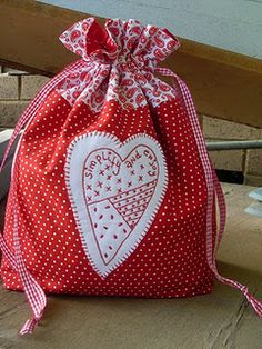 """Love the heart embroidery & the message...""""simplify and enjoy""""   {free pattern}"""