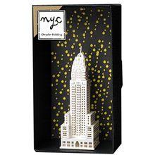 Mini cidade de nova York frete grátis DIY Material de papel de Chrysler Building 3d cartão cartão de presente do dia dos namorados(China (Mainland))