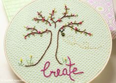 Crafted Spaces: Embroidery Hoop Art