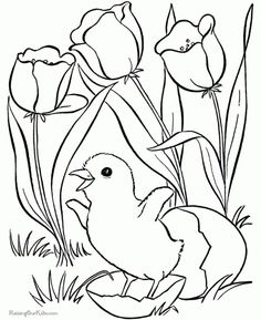 easter flower coloring page free flowers coloring pages