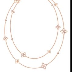 Double length 42' pink gold & diamond Legacy Necklace