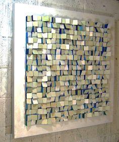 Stephen Walling painted wood wall sculpture