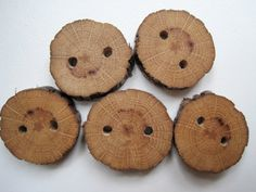 Wooden Buttons Red Oak Wood Tree Branch by TimberWoodsWares, $9.00