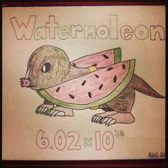 Mole Day Pun: Watermoleon