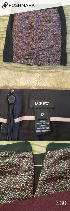 """J. Crew Delilah Skirt size 12 J. Crew Size 12  Delilah skirt, slit on then back,  excellent condition. J. Crew Size 12  Approx flat lay measurements Waist 17"""" Length 20.5"""" J. Crew Skirts"""