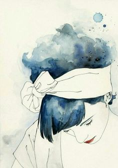 Blue and woman