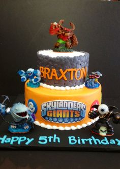 Halo Torta Skylanders Trap Team birthday cake Cakes by Halo