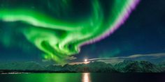 Our featured Northern Lights destination this week: Lyngenfjord #NorthernNorway #Norway