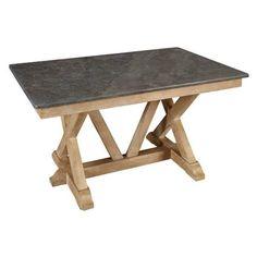 A-America West Valley Rectangular Bluestone Table | from hayneedle.com