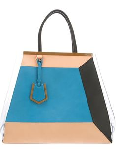 FENDI '2Jour' Colour Block Tote
