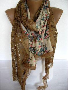 Trend Scarf Fashion Scarf  ShawlsScarvesGift by SmyrnaShop on Etsy,: