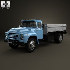 Buy ZIL 130 Flatbed Truck 1964 by on The model was created on real car base. Truck Flatbeds, 4x4 Trucks, Retro Cars, Vintage Cars, Diy Go Kart, Car 3d Model, Truck Repair, 3d Modelle, Toy Hauler