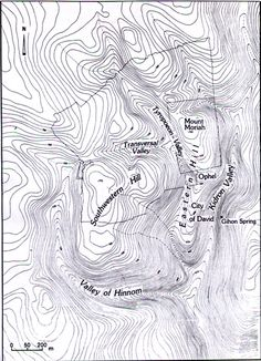 Topographical Map of Jerusalem