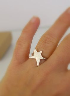 Sterling Silver Star Ring Constellation