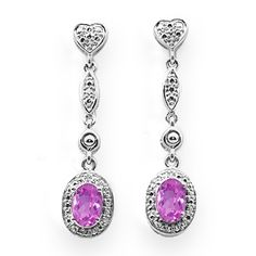 Jared - Lab-Created Pink Sapphire Earrings $108.13