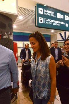 9/18/2014: Bari Karol Wojtyła Airport, with James Middleton & Michael Middleton (Bari, Apulia, Italy)