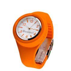 Bright orange watch! I dig it.