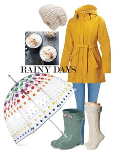 """Rainy Days"" by tinselwear on Polyvore featuring George, Hunter, Helly Hansen, Totes, The North Face and UGG Australia"