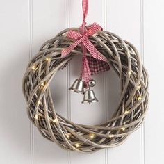 round christmas wreath with lights by the christmas home | notonthehighstreet.com