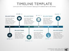 Timeline template for Powerpoint. Great project management tools to help you create a timeline to support your project plan.