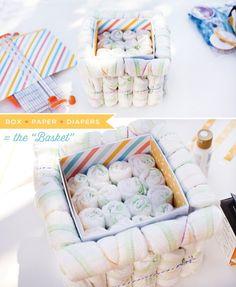 hot air ballon diaper cake tutorial step 1