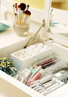 17 ideias para organizar produtos de beleza