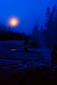 Blue Moon, Yellowstone National Park, Wyoming