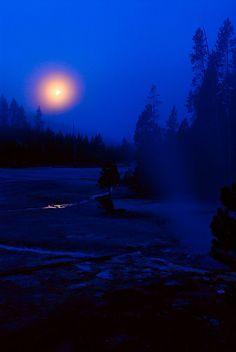 Blue Moon, Yellowstone National Park, Wyoming