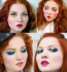 Image detail for -... artist Xenia. Electro bright eyeshadow colors, makeup tutorials