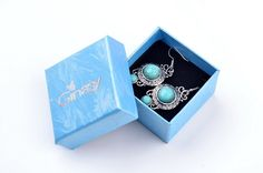 Amazon.com: $12.99  Ginasy Silver Plated Turquoise Drop Earrings: Jewelry