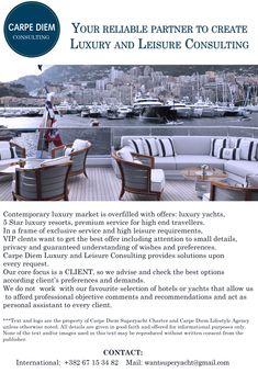 superyacht charter Superyacht Charter, Luxury Marketing, Luxury Yachts, Carpe Diem, Good Things, Contemporary, Travel, Viajes, Destinations