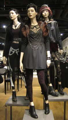 Happy Halloween! Love the goth, glam, grunge styling as seen in-store @Topshop #Halloween #trickortweet  WGSN store shot, London