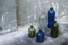 New interior collection available in all stores and as long as stock lasts. Prices from DKK 19,74 / € 2,77 / SEK 26,83 / NOK 25,94 #sostrenegrene #martscampaign #interør #interior #decor #newin #bottles #vases #glasflasker #farvetglas