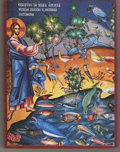 Icon depicting the Creation.